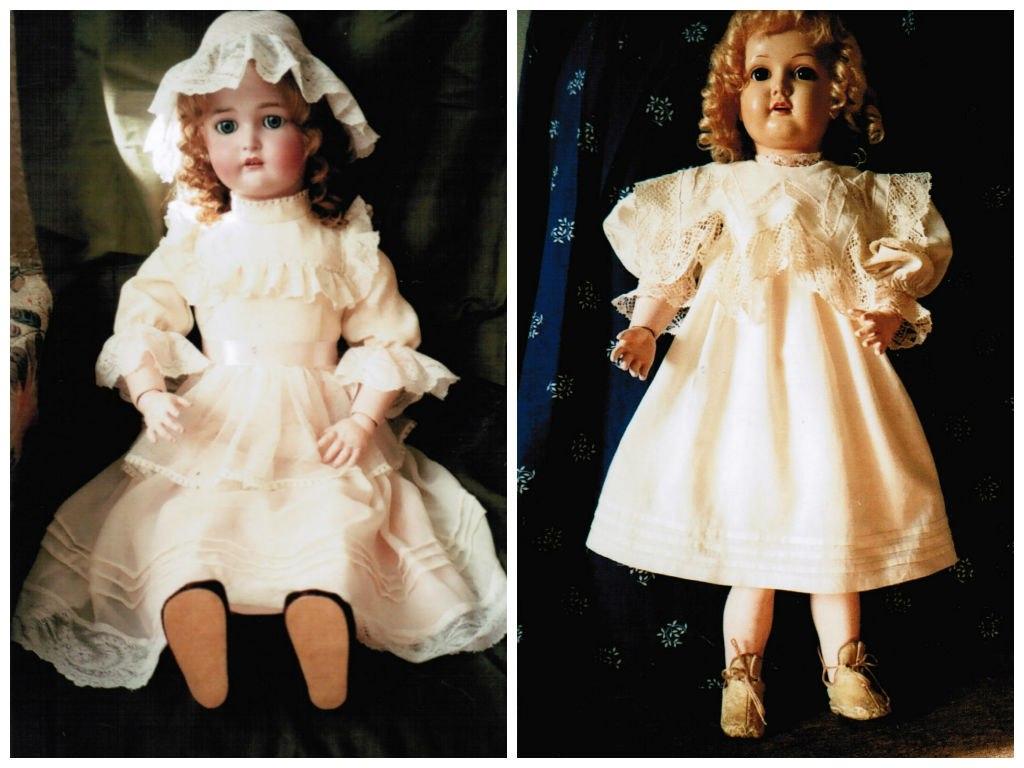 Выставка «За дверью мастерской», клуба любителей старинных кукол «Барышни и дамы»